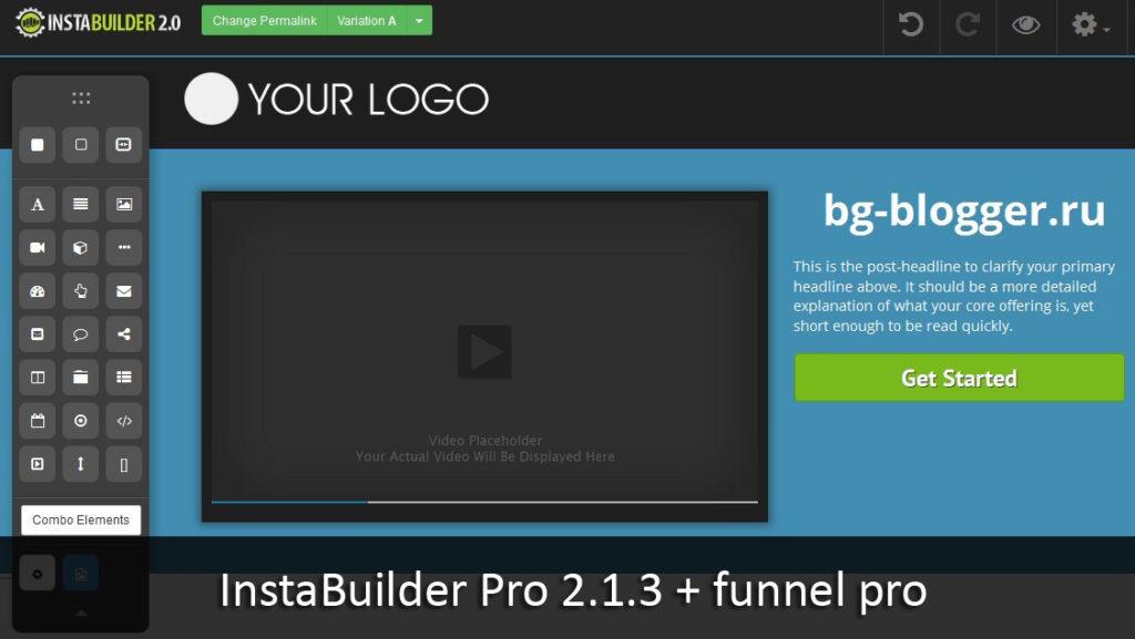 Создание лэндингов с помощью InstaBuilder Pro 2.1.3