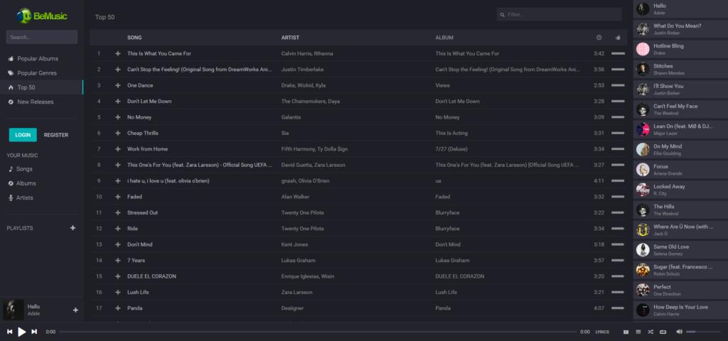 Скрипт музыкального сайта BeMusic v2.0.3