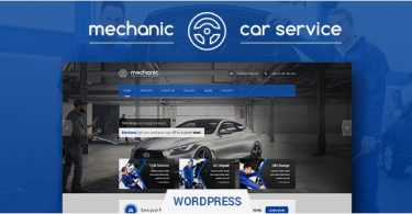 Автомобильная тема Mechanic 1.2.1 для Wordpress