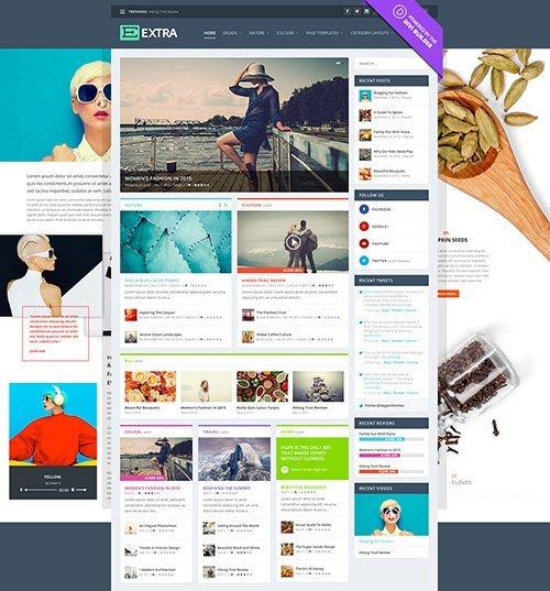 Extra 2.0.23 — элегантная бесплатная тема для WordPress