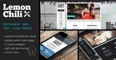 LemonChili 2.02 тема ресторана для WordPress