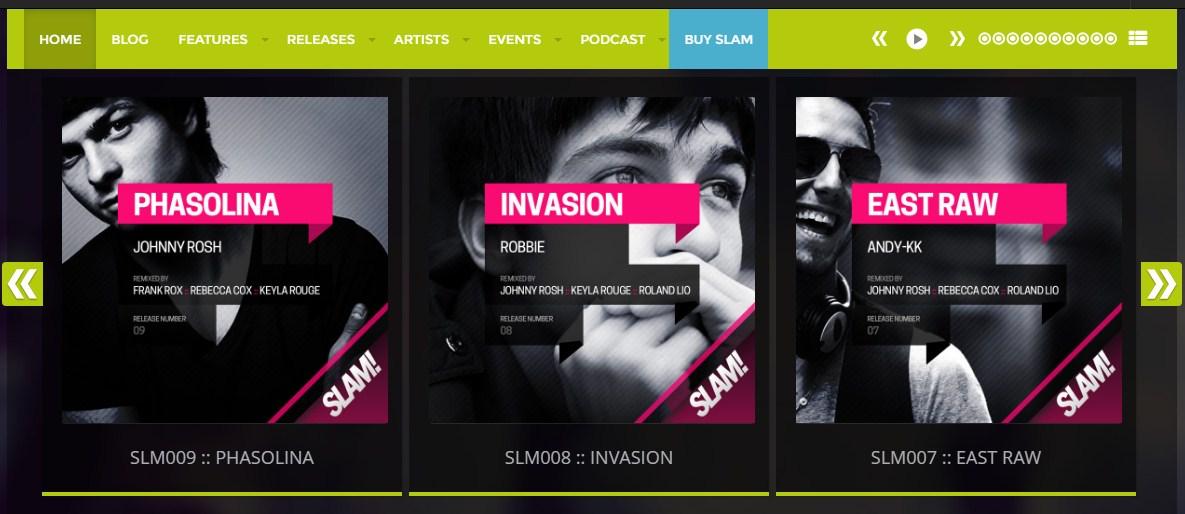 SLAM! v3.4.0 — музыкальный шаблон для WordPress