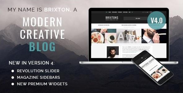Brixton v4.0.3 - тема для блога дизайнера