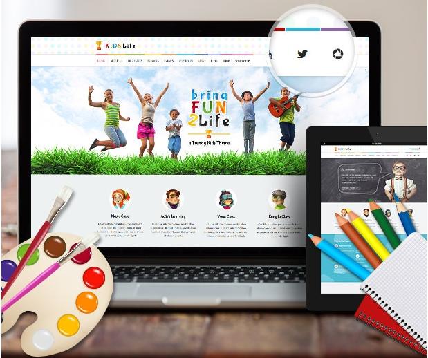 Детский шаблон для wordpress Kids Life 1.6.2