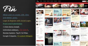 Шаблон персональный блог Pin 3.1 для Wordpress
