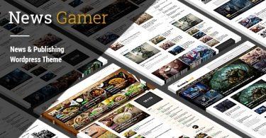 Красивый и функциональный шаблон для Wordpress NewsGamer