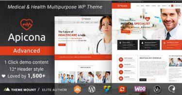 Apicona медицинская тема для wordpress