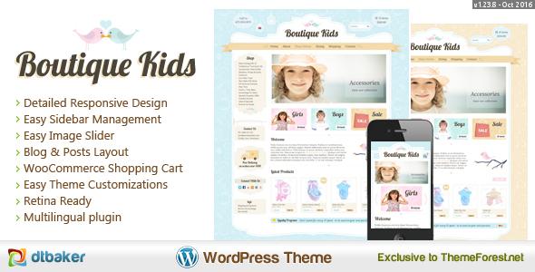 Boutique Kids Creative v1.23.2 шаблон детского интернет магазина