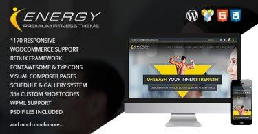 Элегантная Фитнес тема ENERGY для Wordpress