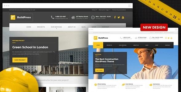 Русская WordPress тема для строительного бизнеса BuildPress 4.1.0