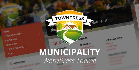 TownPress v1.4.1 - шаблон городского портала для WordPress