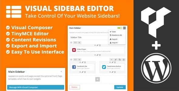 Визуальный Редактор боковой панели Visual Sidebar Editor