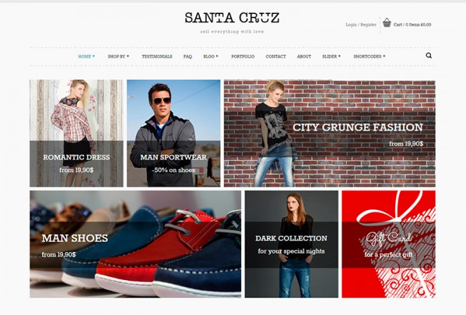 Santa Cruz v1.2.4 интернет магазин WordPress