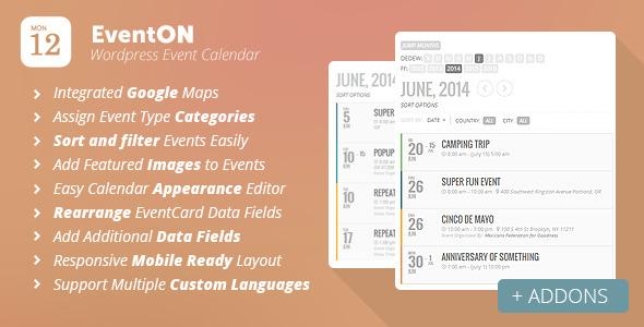 EventOn v2.5.5 – Календарь событий для WordPress