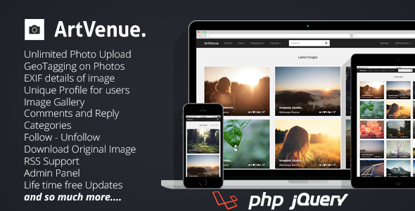 ArtVenue v5.0.9 - скрипт сообщества по обмену фотографиями